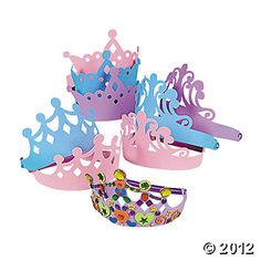 Tiara Assortment, Hats & Masks, Craft Kits & Projects, Craft & Hobby Supplies - Oriental Trading