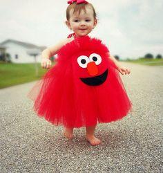 Elmo Cookie Monster Sesame Street Inspired Costume Tutu Dress