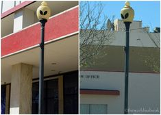 Visiting the Alien City of Roswell New Mexico - We also found many of their lanterns and light posts in alien form.