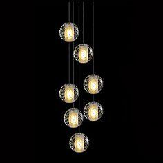 Fabulous KJLARS moderne Luxus Pendeleuchte Pendellampe H ngeleuchte H ngelampe chromfarbig H herverstellbar Deckenlampe Dekorative leuchte Innenleuchte Innenlampe