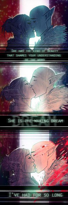 DAI: Dream by drathe | Solas and Lavellan romance, Solavellan, Dragon Age: Inquisition