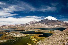 20. Juni 2008 </p><p>Zwillingsvulkane Parinacota & Pomerape, Lauca National Park, Nordchile, Südamerika