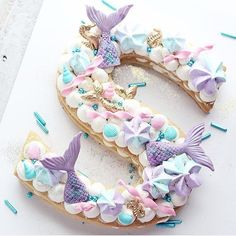 S mermaid cookie creation by @christinascupcakes