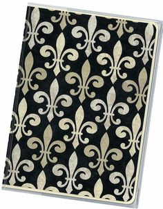 Passport Cover   Black and Cream Fleur de Lis by rabbitholeonline, $5.25