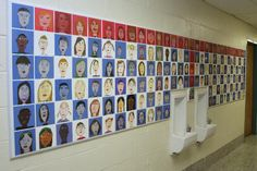 The Robert Erksine Elementary School with the help of ArtWare Fundraising built this amazing self-portrait tile wall as a fundraiser!  Take a look at the gallery!