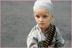 Her name is Rosie, I could not find out where she served. Her eyes are dead, not a glimmer of the child seems to exist. What hells has this child already participated in, or seen. No education, just taught to kill.