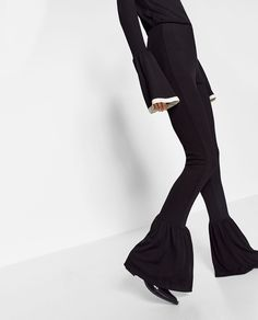 ZARA - WOMAN - FLARED TROUSERS