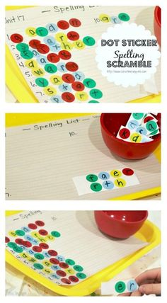 Learning to spell?  Try this fun spelling activity with any word list; it's a great way to work on decoding and fine motor skills!