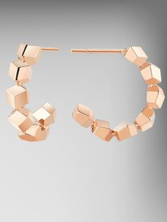 18kt Rose Gold Small Brillante Hoops