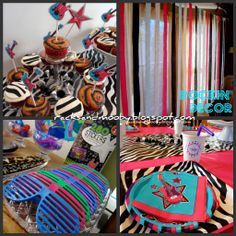 rock dance party decorations | star dance pink birthday party planning ideas decorations http www ...