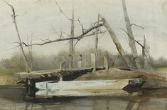 Riverboat de Andrew Wyeth (1917-2009, United States)