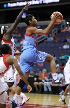 "Celebrity Super Bowl reaction  ( MCT / February 4, 2013 )  WNBA star Angel McCoughtry: ""Congratulations to the Balimore Ravens! The city deserves this! Everybody back home enjoy and eat a big ole crab cake for me."""