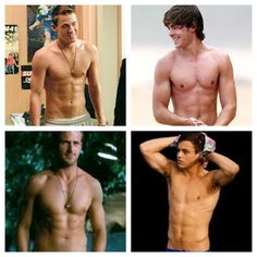 Channing Tatum, Zac Efron, Ryan Gosling, and Tom Daley all together on one! Did I mention they're shirtless! ❌