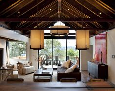 Cathedral Ceiling Design, Pictures, Remodel, Decor and Ideas -Lights!