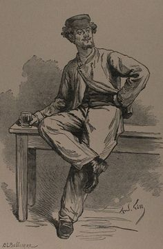 Coupeau  L'Assommoir. Œuvres complètes illustrées d'Émile Zola, Paris, 1906 - BnF - Brouillons d'écrivains