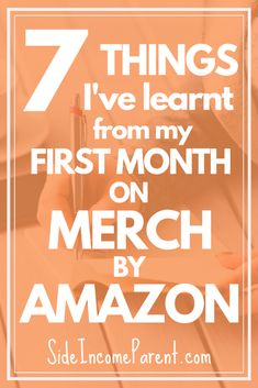 Started or just starting Merch By Amazon? Find out what Ive learnt after my first month on the print-on-demand platform.  - Sell On Amazon ideas #SellOnAmazon Make Money On Amazon, Sell On Amazon, Way To Make Money, Amazon Fba, What To Sell Online, Make Money Online, Get Rich Quick, How To Get Rich, Starting A Tshirt Business