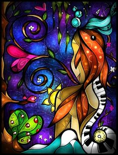 Do you remember when we met by Mandie Manzano, Stained glass