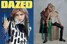 DROMe Men's Leather Trousers featured in Dazed Autumn Winter 2015