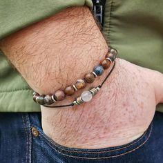 🤟 Kedvező kombináció 🤟 ❓ Gondoltad volna, hogy férfi is viselhet holdkő ásványt? 🤔 . 🌪️ Lélekvihar - prémium ásvány karkötő viharkővel és rozsdamentes acéllal. 🌕 HOLDFÉNY - Prémium zsinór ásvány karkötő holdkővel, hematittal és rozsdamentes acéllal. . 🌐 WWW.TWISTEDCORDS.HU Bracelets, Men, Jewelry, Fashion, Bangle Bracelets, Jewellery Making, Moda, Jewerly, Jewelery