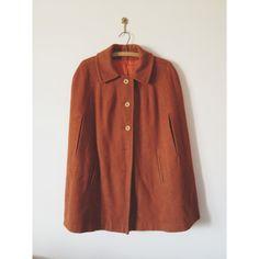 vintage 1960s rustic wool cape