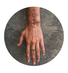 hand poked wrist shield created on Katie last week 🎇