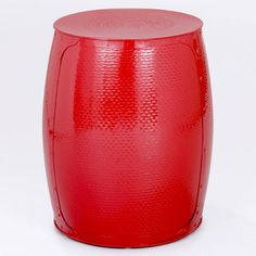 Pompeian Red Metal Accent Stool from World Market More