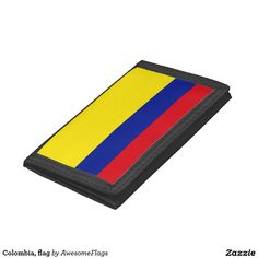 Colombia, flag tri-fold wallet