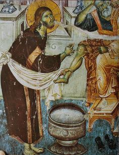 manuel-panselinos-from-the-holy-church-of-the-protaton + + + Κύριε Ἰησοῦ… Jesus Painting, Mural Painting, Mural Art, Fresco, Byzantine Icons, Byzantine Art, Religious Icons, Religious Art, Tempera