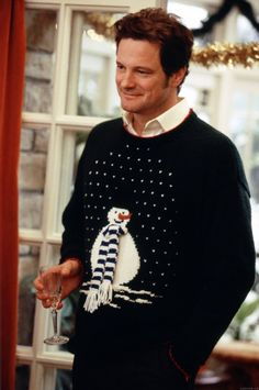 I heart Christmas sweaters -  Mark Darcy / Colin Firth in Bridget Jones's Diary
