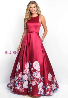 Shop long prom ball gowns at Simply Dresses. Blush prom dresses and floral-print prom dresses with open backs, scoop necks and long full skirts. Blush Prom Dress, Blush Dresses, Elegant Dresses, Pretty Dresses, Beautiful Dresses, Formal Dresses, Prom Girl, Dance Dresses, Homecoming Dresses