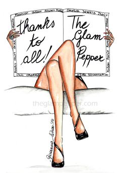 The Glam Pepper: thanks to all !! - The Glam Pepper #fashion #sketch #illustration #bozzetto #moda #draw #drawing