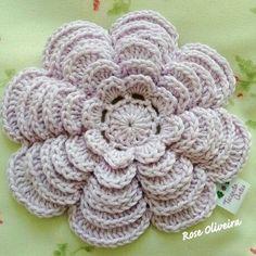 ergahandmade: Crochet Flower + Diagram