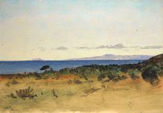 LOCKWOOD DE FOREST (1850-1932) Santa Barbara's Channel Islands - Deep Blue Pacific, Feb. 1917