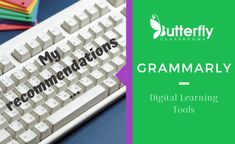 There is no need to send off an email with spelling errors or grammar mistakes. Grammarly is the solution. Grammar Skills, Spelling And Grammar, Learning Tools, Learning Activities, Unique Words, Favorite Words, Educational Technology, Vocabulary, Butterfly
