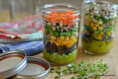 Layered salads in jars are hot on Pinterest right now.  I couldn't figure out if they were a gimmick or not, so I decided to give one a try.  When it comes to salads in general, I'm really lazy, so if I can somehow trick myself into making them ahead of time, it helps.  Since I don't eat nearly enough beans, and I'm guessing you don't either, why not use all kinds of beans, and remake the old 7 bean salad?  Having them all ready to go like this would be a big encouragement to me.  I can see making [...]