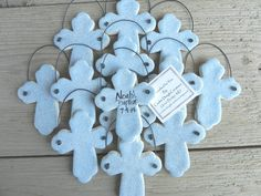 Baptism favors!! A handmade gift for those attending your baby's baptism. Cross is unique, slightly more ornate and suitable for boy or girl. Only recently becoming available to me, I first noticed th