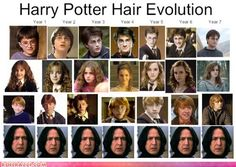 The Harry Potter hair evolution