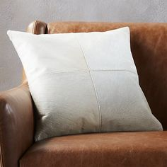 Rustic Lounge Pillow- 3: Bleached Hide Pillow