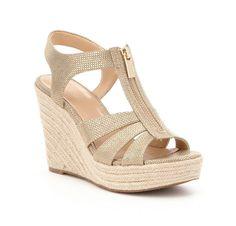 Light gold wedge sandals | Michael Kors
