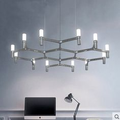 581.33$  Watch here - http://alicrt.worldwells.pw/go.php?t=32594427958 - indoor lamp Postmodern Simple Art Lighting Lobby Villa Stairs light fixture  12 heads Round shape Candle Crown Pendant Light 581.33$