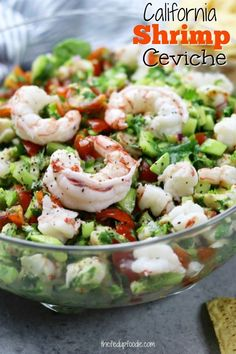 Light and refreshing, California Shrimp Ceviche recipe makes a perfect appetizer or meal on hot summer nights. A wonderful companion to healthy chips, stuffed in a lettuce leaf or on a tostada. We served this at our wedding reception and it was a HUGE hit! #thefedupfoodie #shrimpcevicherecipe #mexicanappetizer #partyappetizer #summerdinneridea https://www.thefedupfoodie.com