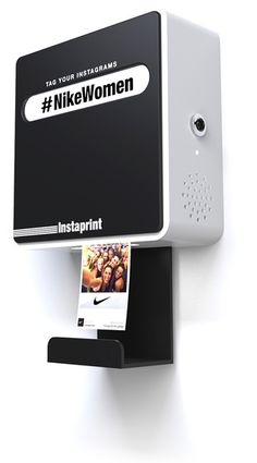 Instaprint, a tiny photo booth-for-rent that will print any Instagrams with a specific hash tag.