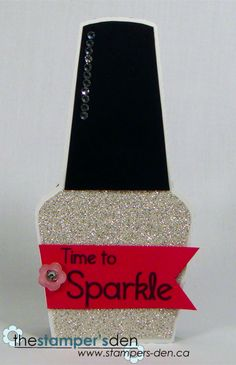 Sparkle - Karrie snider - Nail polish shaped card