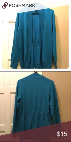 Like new teal cardigan Cute teal cardigan. Size 12, would fit medium/large. Sweaters Cardigans