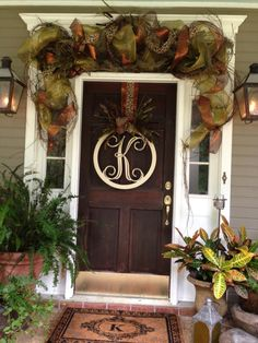 fall porch by Wanda King