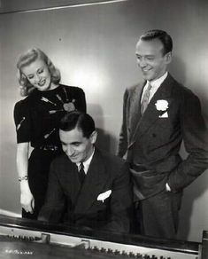 Ginger Rogers & Fred Astaire with ace song writer Irving Berlin.