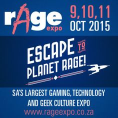 RAGE Expo 2015 – 9 – 11 October…. We will be there!! Stand No. 58 ow.ly/SJKye   #syntech #rAge2015 #gaming Expo 2015, Press Release, Geek Culture, Rage, October, Gaming, Videogames, Game, World's Fair