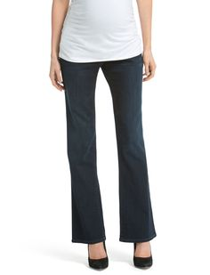 The flare   secret fit belly 5 pocket wide leg maternity jean by Jessica Simpson available at Destination Maternity