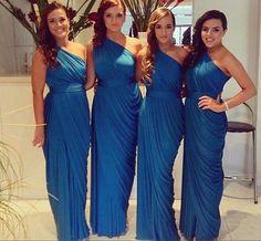 One-shoulder Bridesmaid Dress,Simple Design Bridesmaid Dress,Pretty Bridesmaid Dress,Charming Bridesmaid dress ,PD175