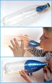 как надуть шарик в бутылке